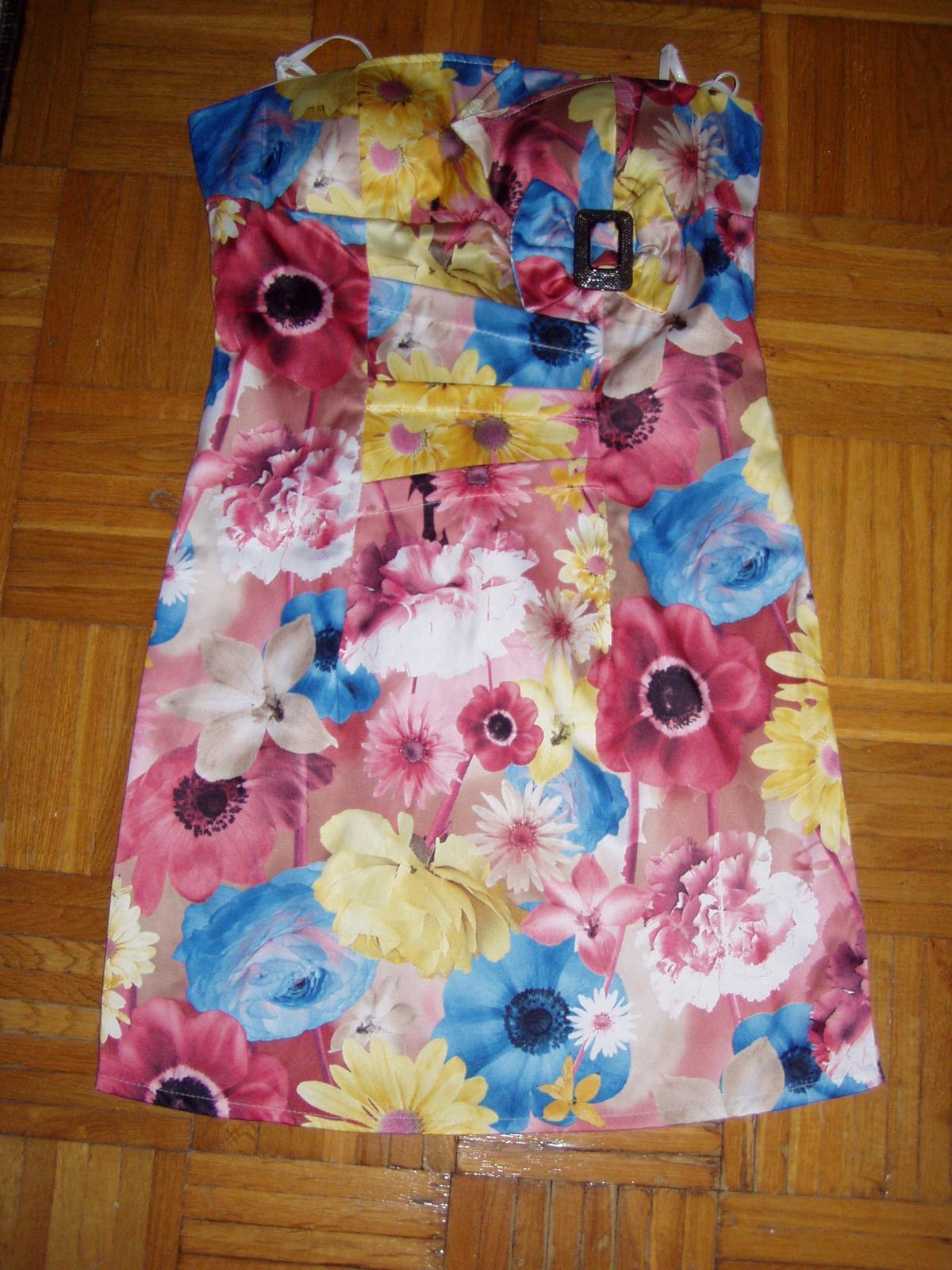 farebné talianske korzetové šaty veľ. 38 - Obrázok č. 2