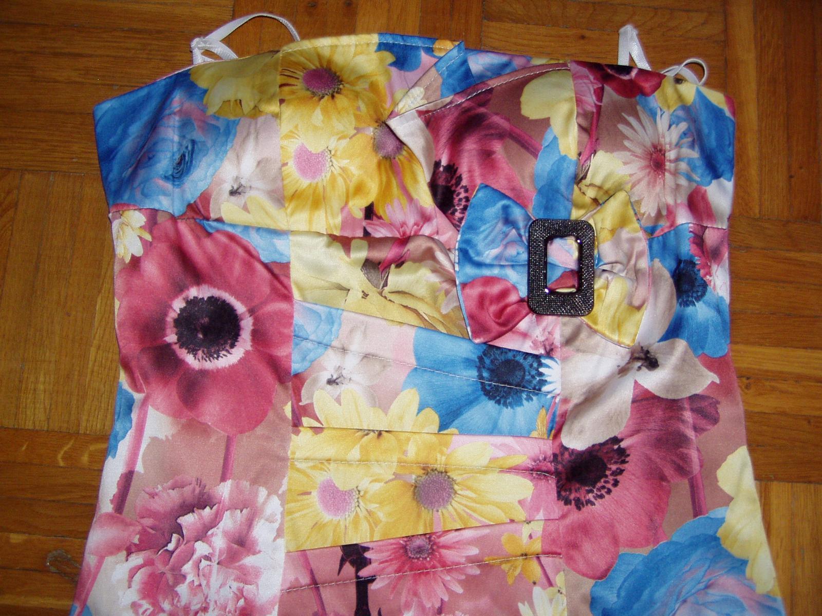 farebné talianske korzetové šaty veľ. 38 - Obrázok č. 3