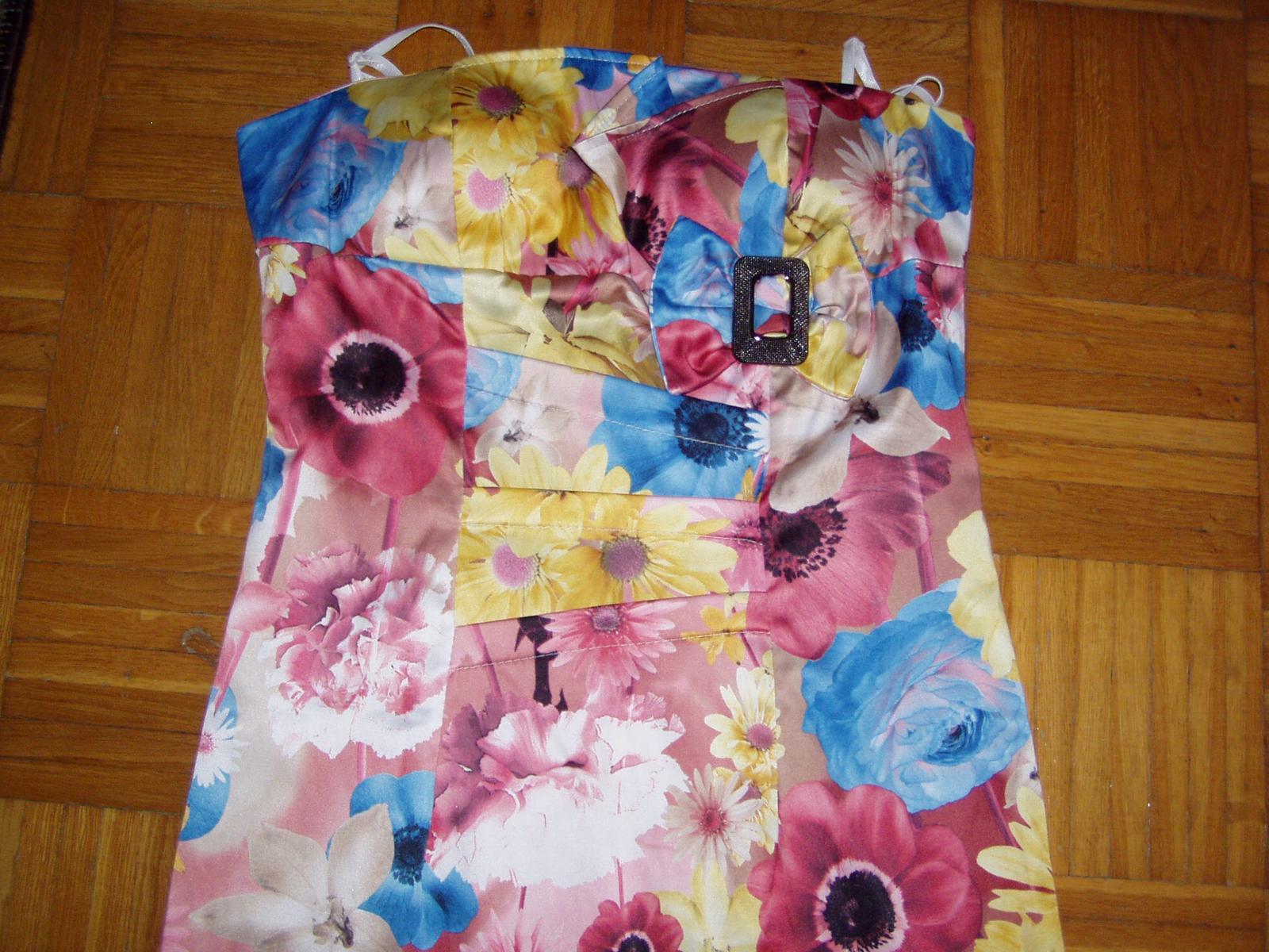 farebné talianske korzetové šaty veľ. 38 - Obrázok č. 4