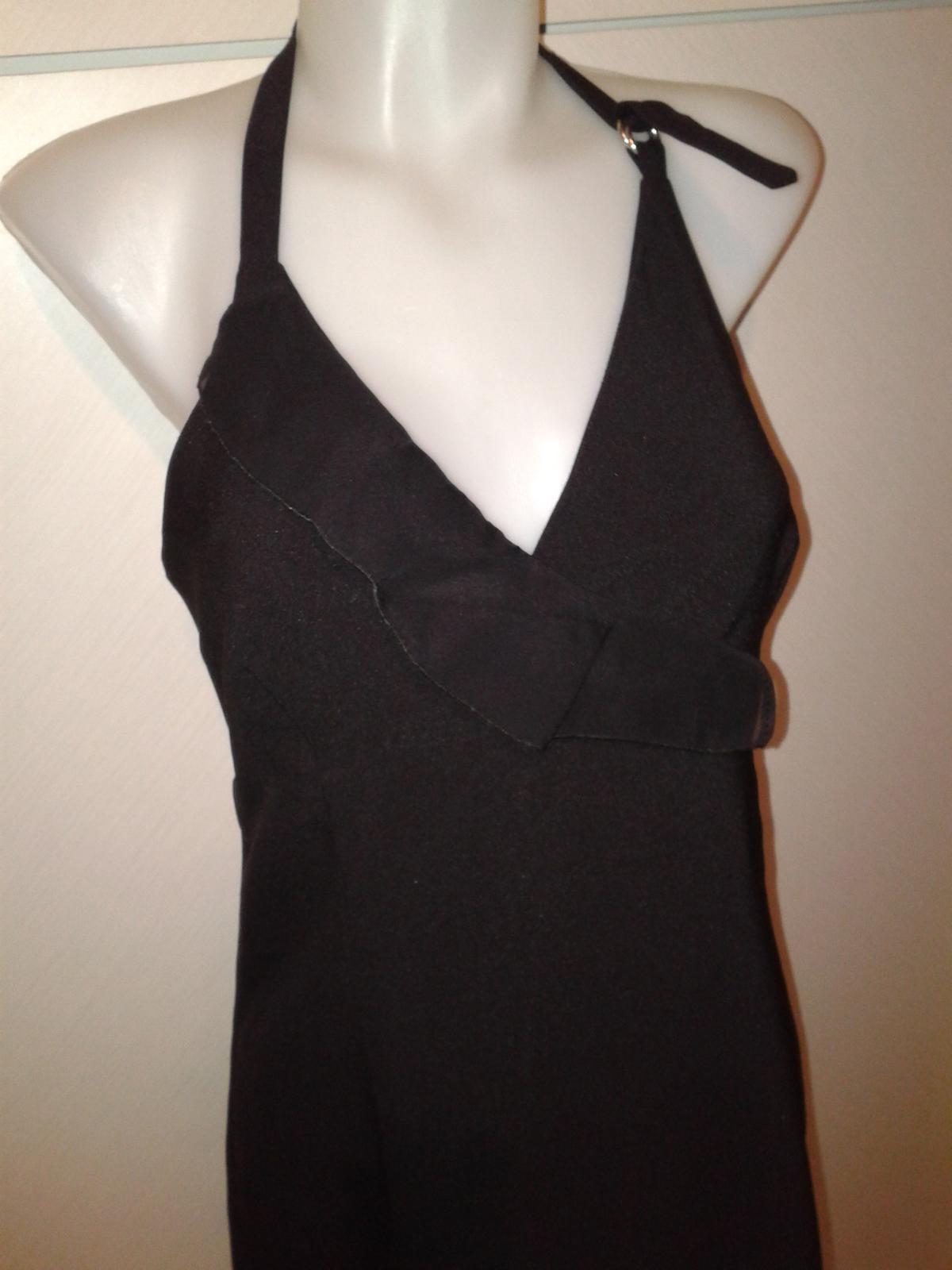 čierne spoločenské šaty s volánom Tally Weijl36/38 - Obrázok č. 2