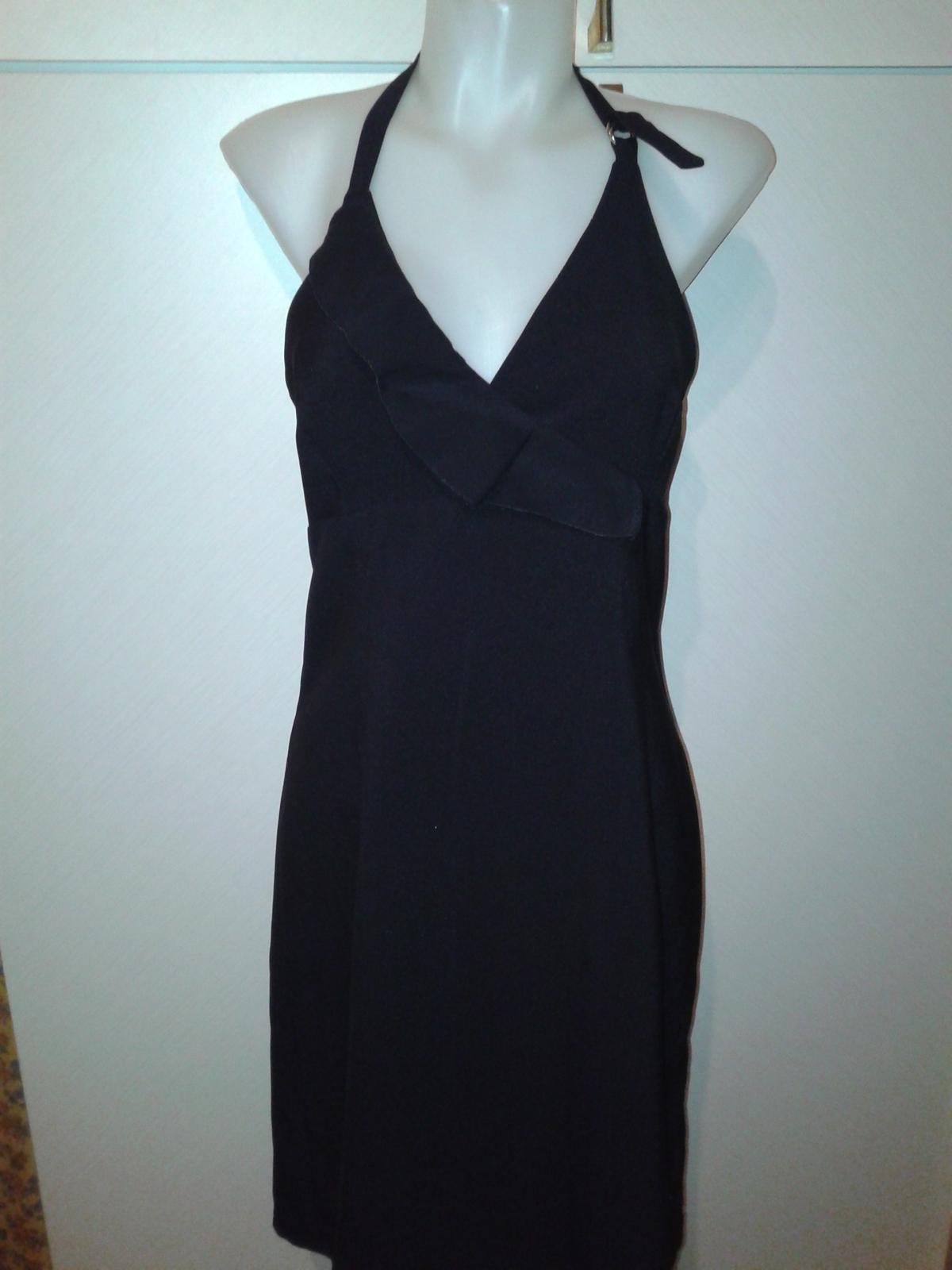 čierne spoločenské šaty s volánom Tally Weijl36/38 - Obrázok č. 3