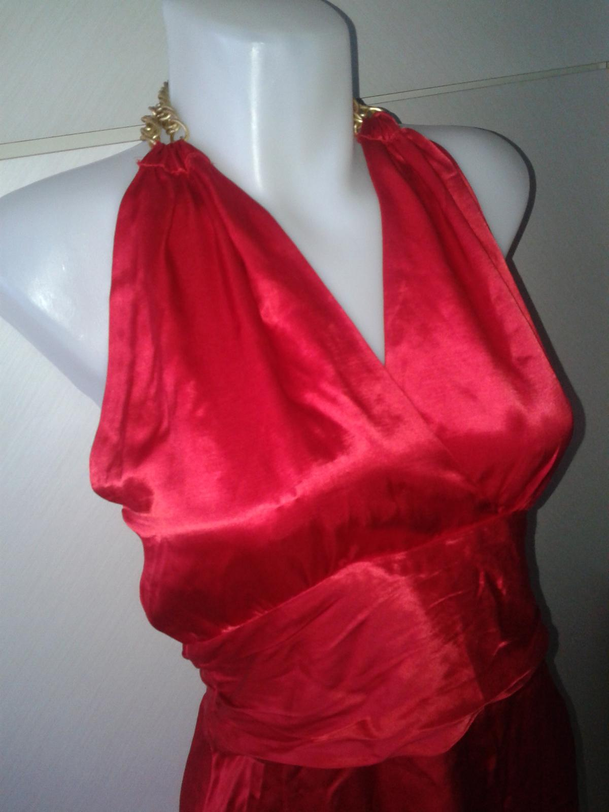jasnočervené šaty Next veľ, 36/38 - Obrázok č. 1
