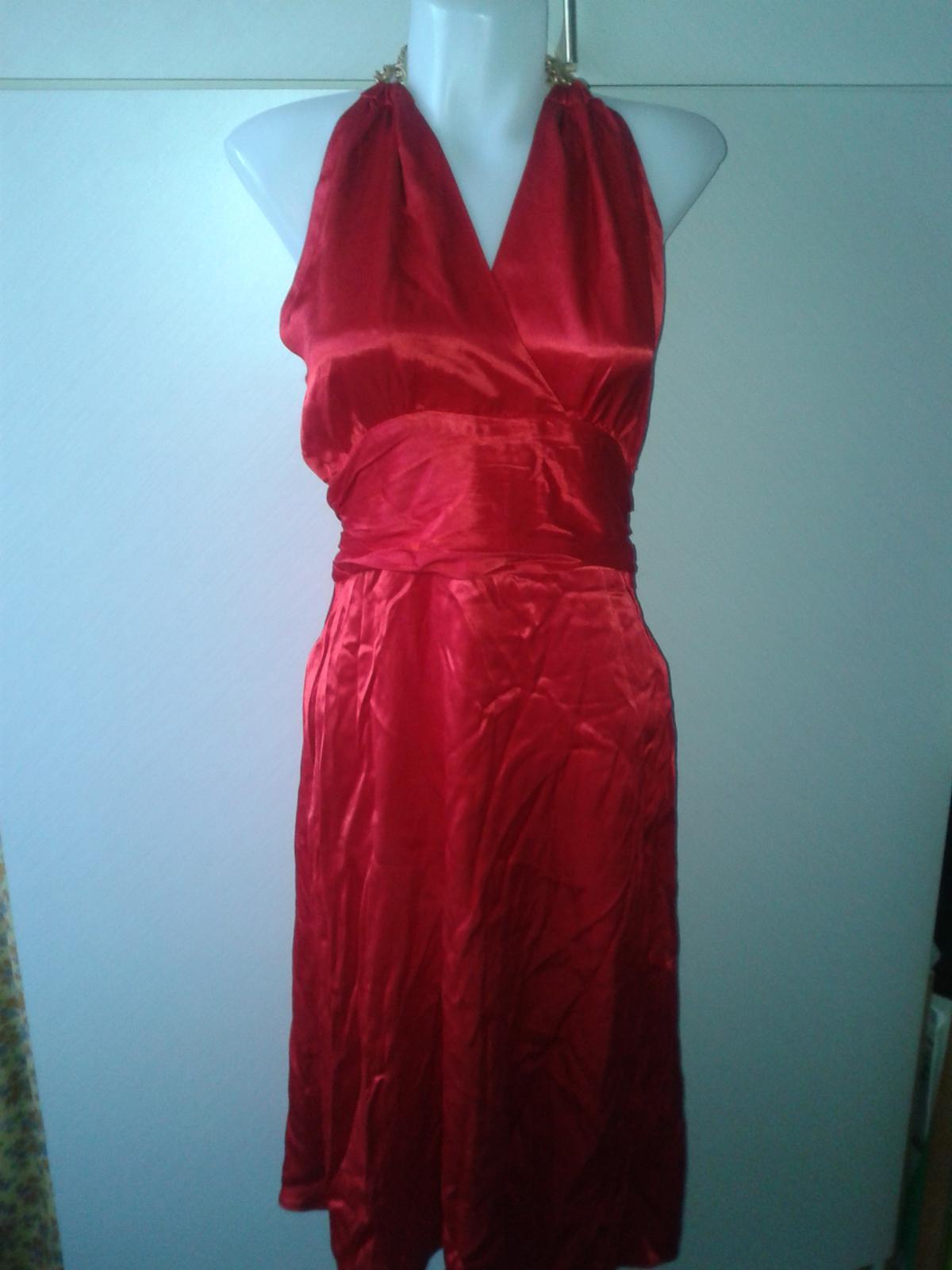 jasnočervené šaty Next veľ, 36/38 - Obrázok č. 2