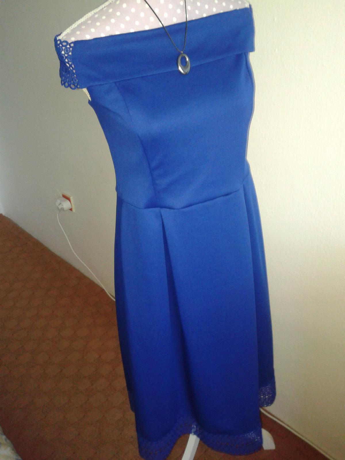 jasnomodré šaty cez ramená Dorothy Perkins veľ. L/42 - Obrázok č. 1