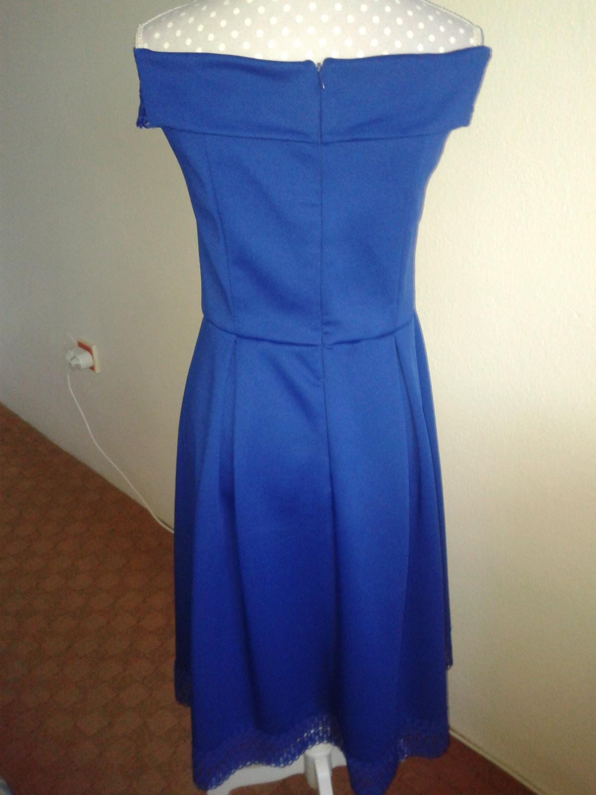 jasnomodré šaty cez ramená Dorothy Perkins veľ. L/42 - Obrázok č. 2