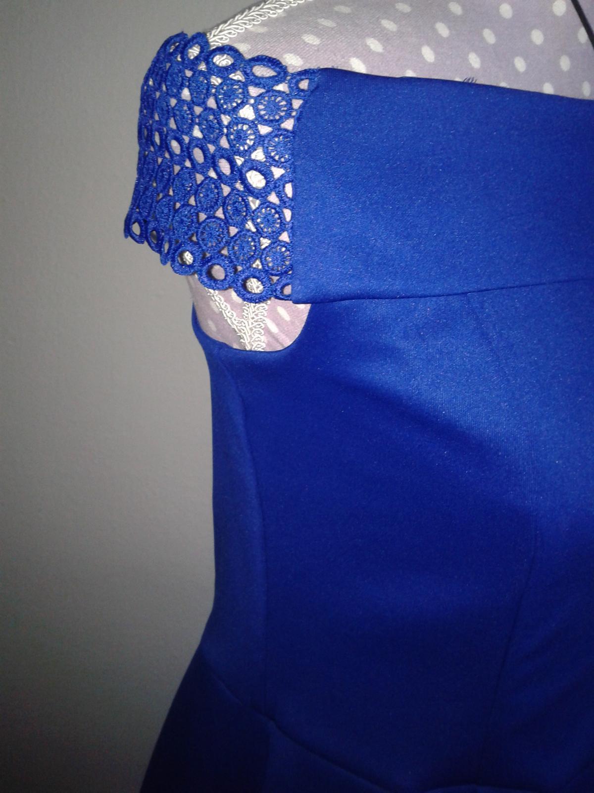 jasnomodré šaty cez ramená Dorothy Perkins veľ. L/42 - Obrázok č. 3