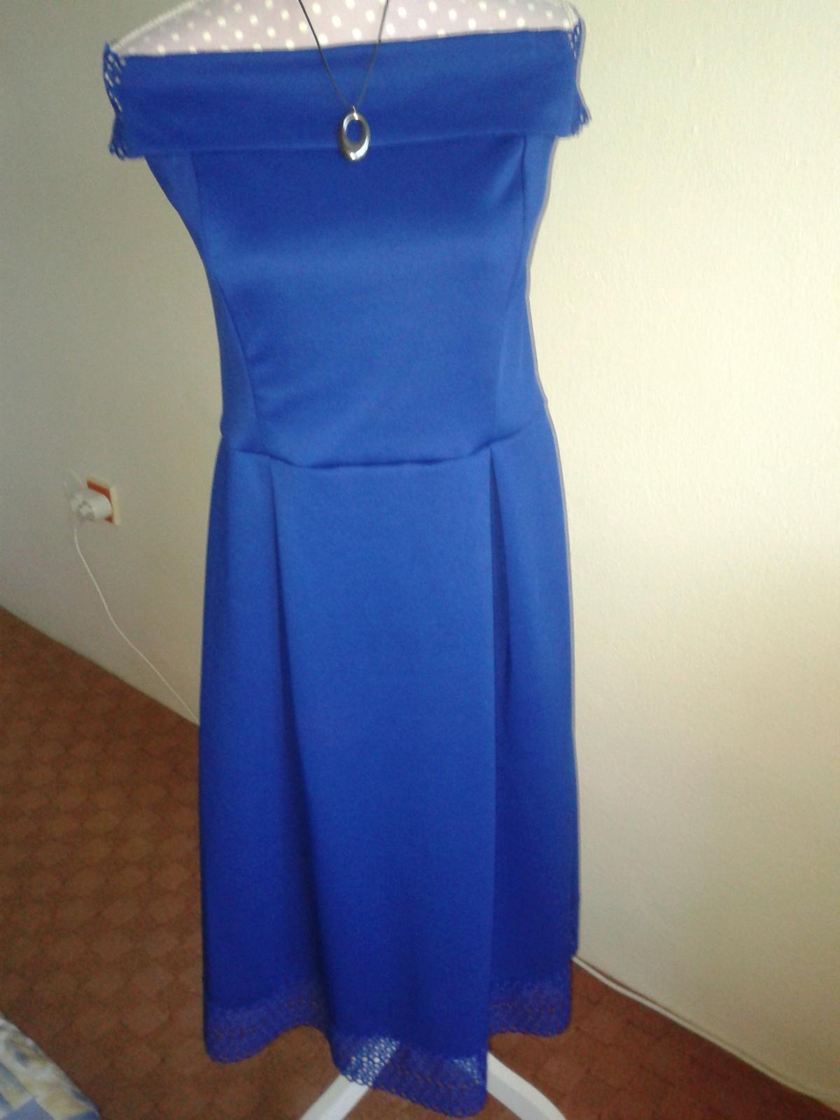 jasnomodré šaty cez ramená Dorothy Perkins veľ. L/42 - Obrázok č. 4