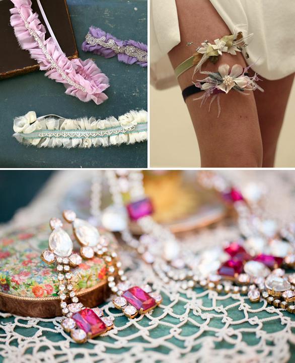 Wedding dress inspirations - Different suspender ideas