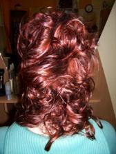 zkouška účesu - rozpuštěné vlasy