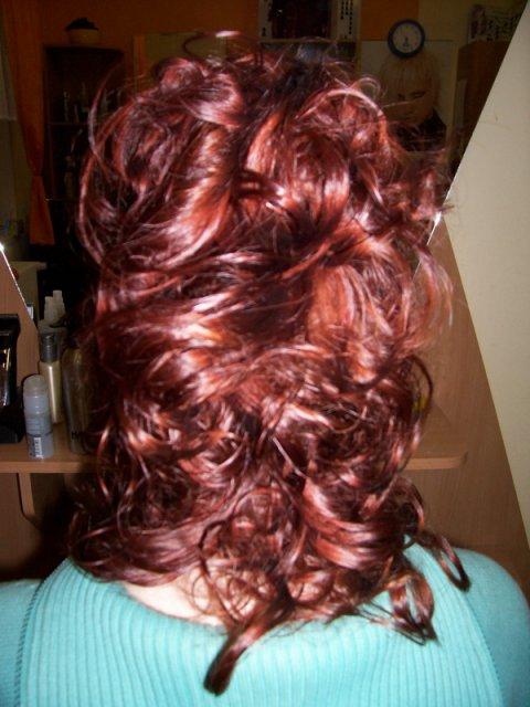 Představy - zkouška účesu - rozpuštěné vlasy