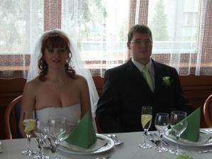 svatba zeleno-bílá