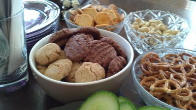 Domácí koka sušenky a sušenky s arašídovým máslem