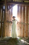 krémové svadobné šaty, 34