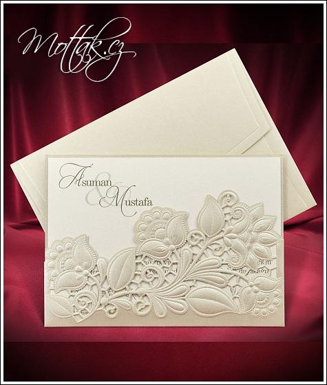 Svatební oznámení s kapsou - Svatební oznámení Mottak 5530
