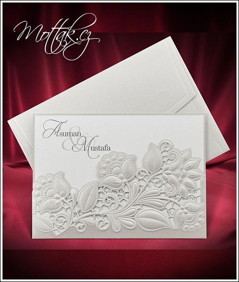 Svatební oznámení s kapsou - Svatební oznámení Mottak 5529