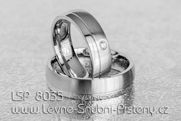 Snubní prsteny LSP z chirurgické oceli - LSP 8035
