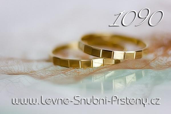 Zlaté snubní prsteny LSP - LSP 1090 www.levne-snubni-prsteny.cz