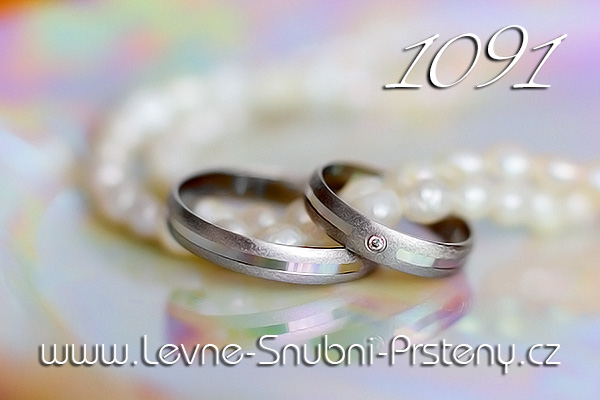 Zlaté snubní prsteny LSP - LSP 1091b www.levne-snubni-prsteny.cz