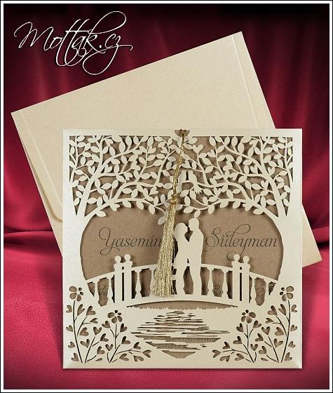 Svatební oznámení z recyklovaného papíru - Svatební oznámení 2680