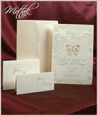 Svatební oznámení s motýlem 3597 www.mottak.cz,