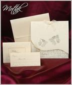 Svatební oznámení s motýlky 3602 www.mottak.cz,