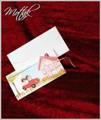 Svatební oznámení s autem 5323 www.mottak.cz,