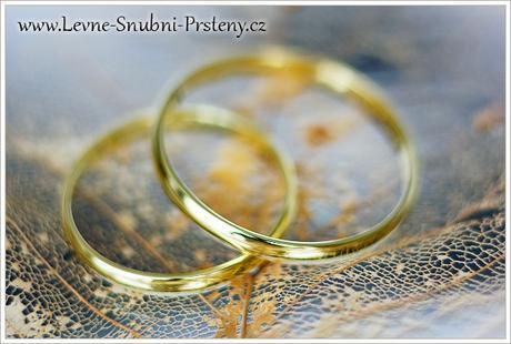 Snubní prsteny LSP 1001 - bez kamene, zlato 14 k. - Obrázek č. 1
