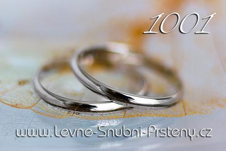 Snubní prsteny LSP 1001b - bez kamene, zlato 14 k. - Obrázek č. 1