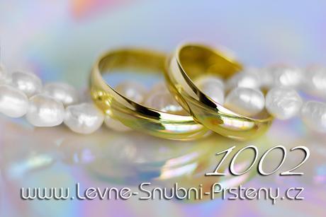 Snubní prsteny LSP 1002 - bez kamene, zlato 14 k. - Obrázek č. 1