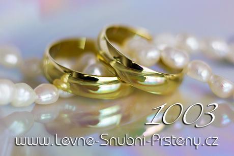 Snubní prsteny LSP 1003 - bez kamene, zlato 14 k. - Obrázek č. 1