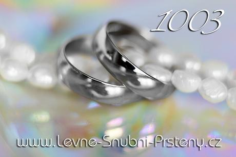 Snubní prsteny LSP 1003b - bez kamene, zlato 14 k. - Obrázek č. 1