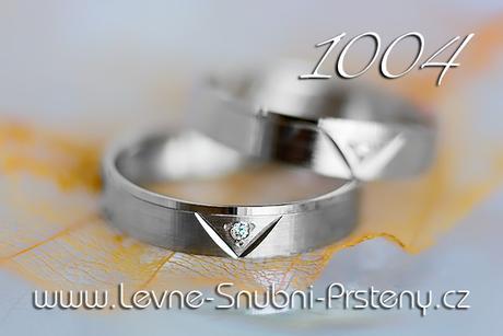 Snubní prsteny LSP 1004b + zirkon, zlato 14 kar. - Obrázek č. 1