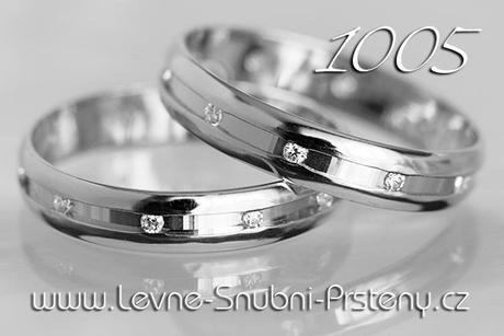 Snubní prsteny LSP 1005b + zirkony, zlato 14 kar. - Obrázek č. 1