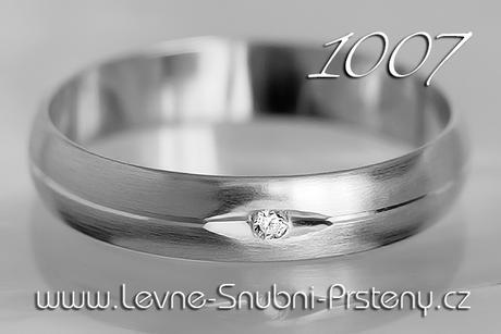 Snubní prsteny LSP 1007b + briliant, zlato 14 kar. - Obrázek č. 1