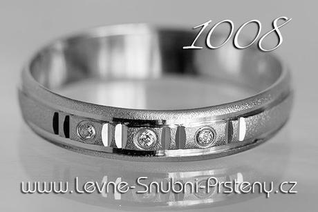 Snubní prsteny LSP 1008b + briliant, zlato 14 kar. - Obrázek č. 1