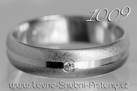 Snubní prsteny LSP 1009b + briliant, zlato 14 kar. - Obrázek č. 1