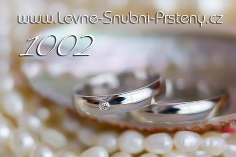 Snubní prsteny LSP 1002b + briliant, zlato 14 kar. - Obrázek č. 1