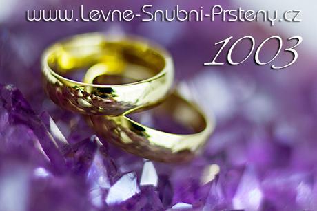 Snubní prsteny LSP 1003 + zirkon, zlato 14 kar. - Obrázek č. 1