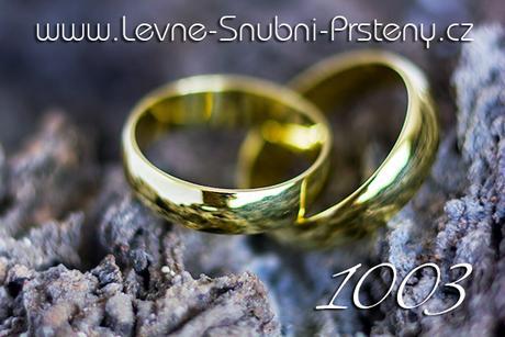 Snubní prsteny LSP 1003 + briliant, zlato 14 kar. - Obrázek č. 1