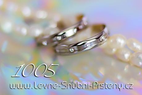 Snubní prsteny LSP 1005b + brilianty, zlato 14 k. - Obrázek č. 1