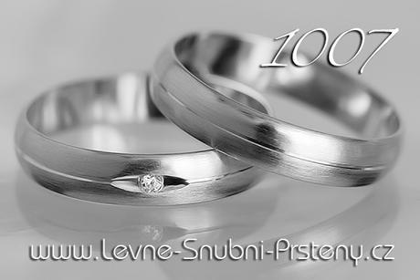 Snubní prsteny LSP 1007b - bez kamene, zlato 14 k. - Obrázek č. 1