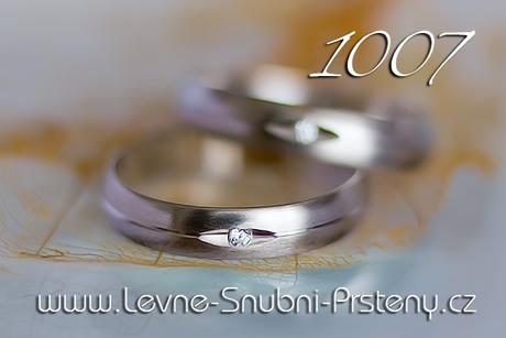 Snubní prsteny LSP 1007b + zirkon, zlato 14 kar. - Obrázek č. 1