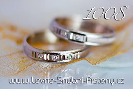 Snubní prsteny LSP 1008b + zirkon, zlato 14 kar. - Obrázek č. 1