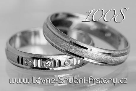 Snubní prsteny LSP 1008b - bez kamene, zlato 14 k. - Obrázek č. 1