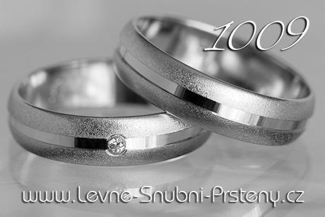 Snubní prsteny LSP 1009b - bez kamene, zlato 14 k. - Obrázek č. 1