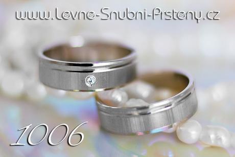 Snubní prsteny LSP 1006b + zirkon, zlato 14 kar. - Obrázek č. 1