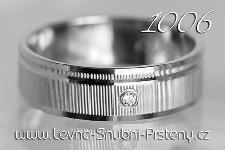 Snubní prsteny LSP 1006b + briliant, zlato 14 kar. - Obrázek č. 1