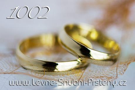 Snubní prsteny LSP 1002 + briliant, zlato 14 kar. - Obrázek č. 1