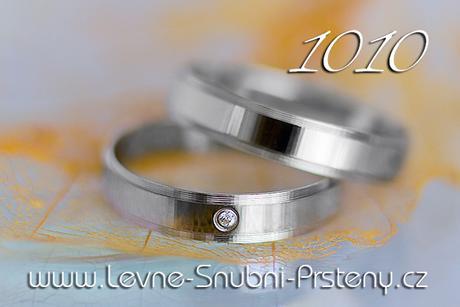Snubní prsteny LSP 1010b - bez kamene, zlato 14 k. - Obrázek č. 1