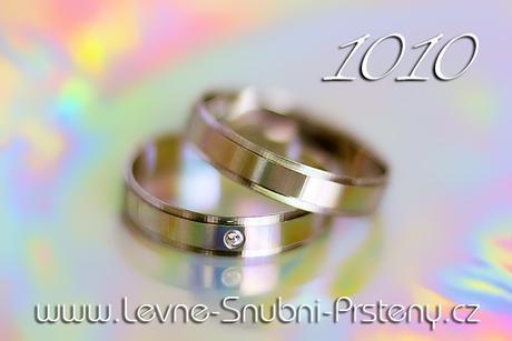 Snubní prsteny LSP 1010b + zirkon, zlato 14 kar. - Obrázek č. 1